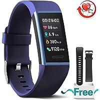MorePro Fitness Armband mit Blutdruckmessung,Wasserdicht IP67 Aktivitätstracker mit Herzfrequenz,Fitness Tracker Blutdruckmessgerät mit Vibrationsalarm,Anruf SMS Beachten,kompatibel mit für iOS Android