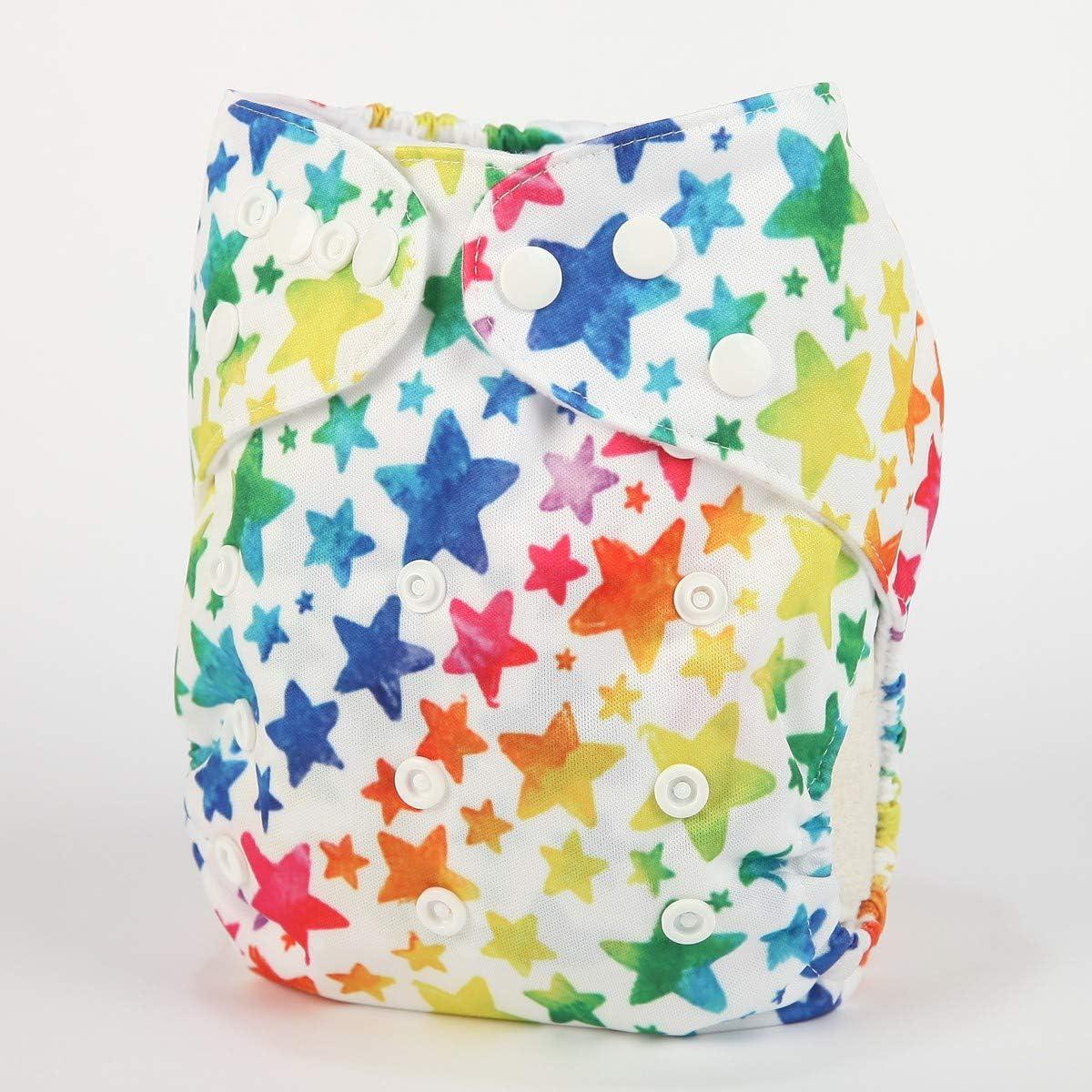 Sigzagor Baby Pocket Diaper Nappy Reusable Washable 8lbs to 36lbs XOXO