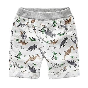 Balai bébé garçons short pantalons d'été Pants avec l'impression des animaux en cotton 2-6ans