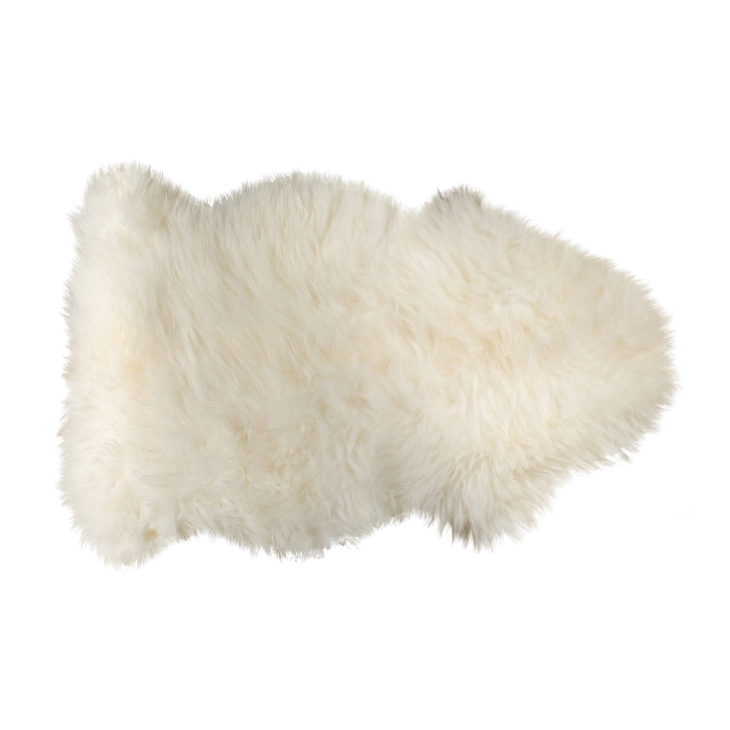 Natural 100% New Zealand Sheepskin Single Aprox 2'X3' Natural
