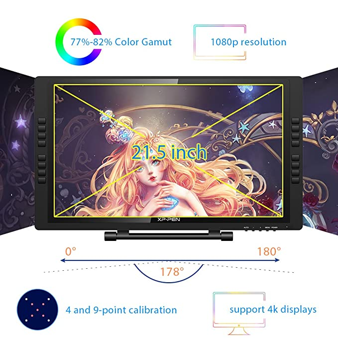 XP-PEN Artist 22E Pro 22 Inch HD IPS Digital Graphics Monitor Drawing  Tablet Monitor Pen Display Support Windows and Mac with 8192 Levels  Pressure