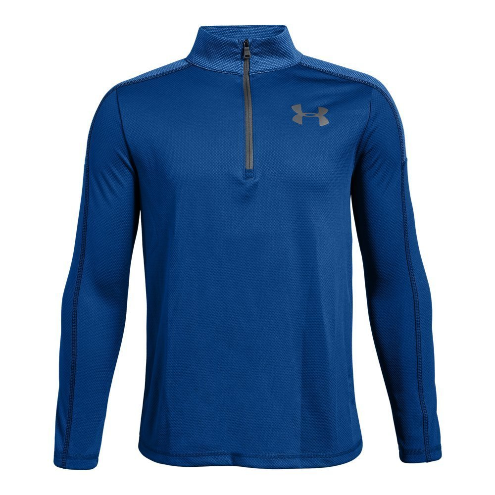 Under Armour Boys Tech 1/2 Zip, Royal (400)/Graphite, Youth X-Small