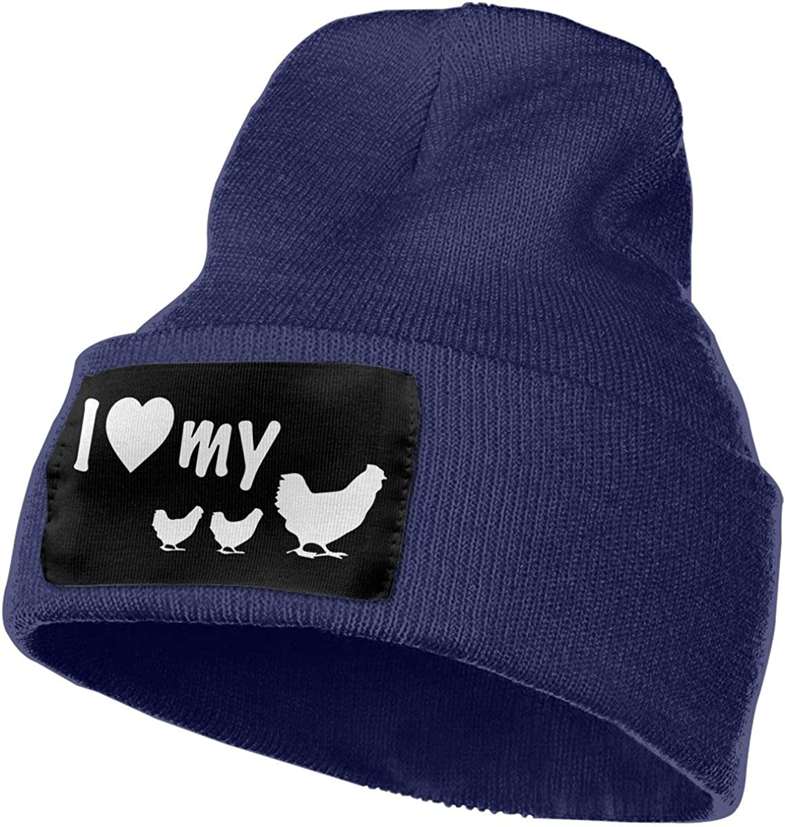 I Love May Chicken Men /& Women Knit Hats Stretchy /& Soft Skull Cap Beanie