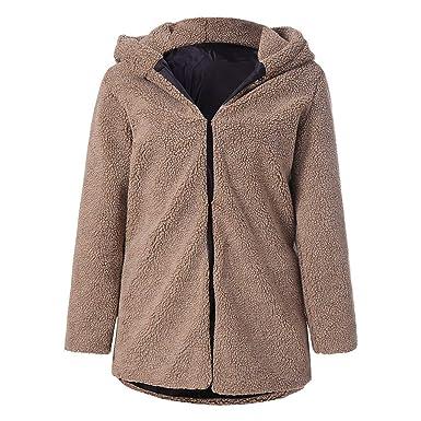Manteau Chaud Capuche Mode Cardigan Peluche Jacket Beautytop Femmes TclFK1J