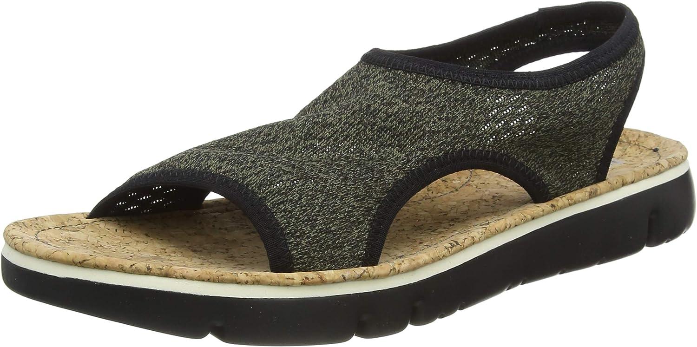Camper Oruga Sandal, Sandalias de Talón Abierto para Mujer