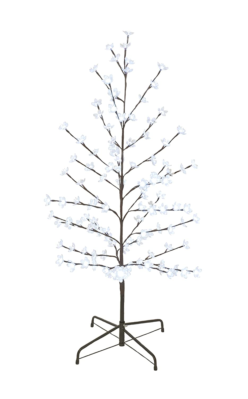 Brite Ideas P001187 120 cm 5 W Plastic Peach Blossom Tree Outdoor Lighting Warm White LEDs, Brown Festive Productions Ltd