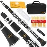 Lazarro 150-BK-L B-Flat Bb Clarinet Black, Silver