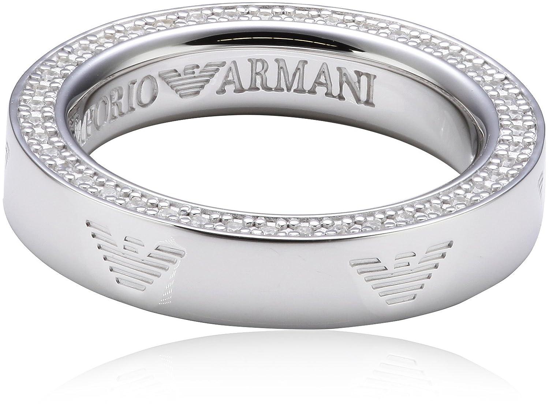 Emporio Armani EG3059040 925 Sterling Silver Ring white Amazonco