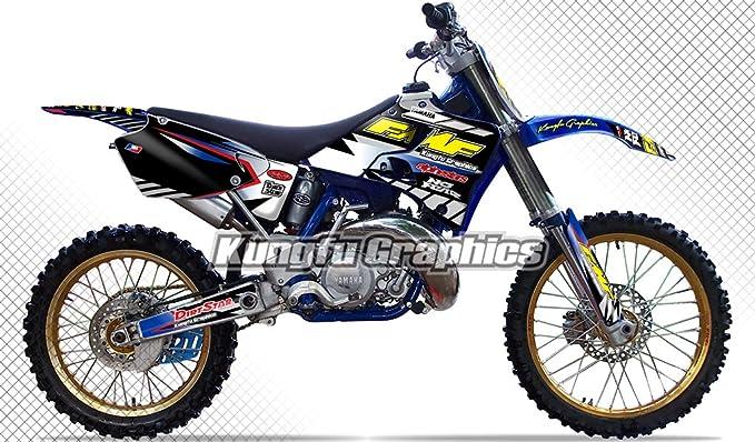 Amazon Com Kungfu Graphics Custom Decal Kit For Yamaha Yz125 Yz250 Yz 125 Yz 250 1996 1997 1998 1999 2000 2001 Black White Style 004 Automotive