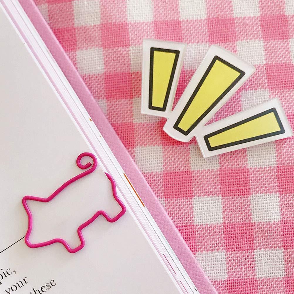 Toyvian Schwein Form B/üroklammern Kreatives Papier Hinweis Foto Zeichen Clips Lesezeichen Clips f/ür Home Office School 20 St/ück