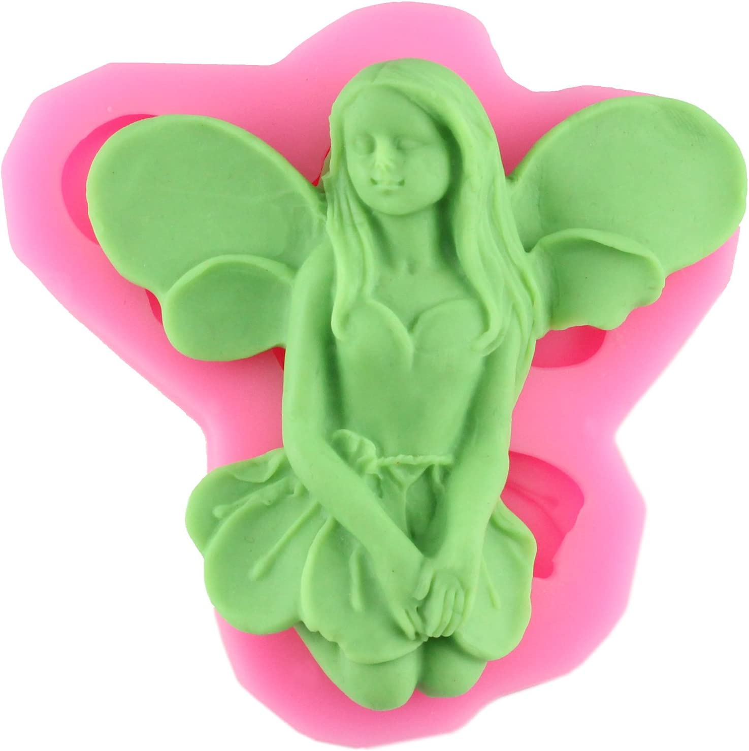 Mujiang Angel Fairy Silicone Mold Making Fimo Candy Fondant Sugar Craft Gumpaste Cake Decorating Clay