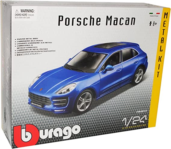 Porsche Macan Turbo Blau Metallic Ab 2014 1//24 Bburago Modell Auto mit oder oh..
