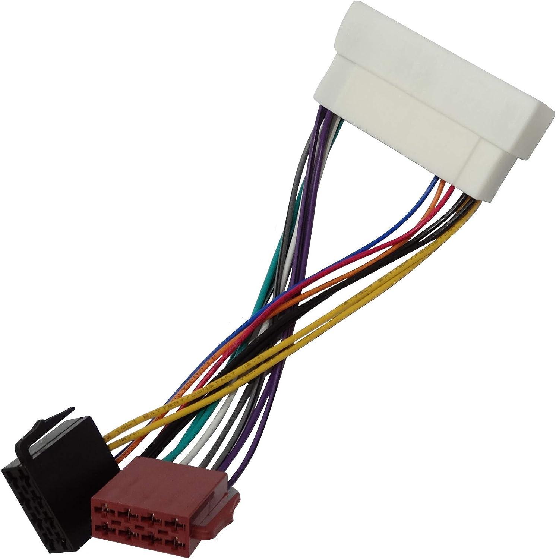 Aerzetix Iso Konverter Adapter Kabel Radioadapter Radio Stecker Iso Kabel Verbindungskabel C40117 Auto