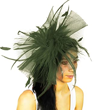 Gorgeous Aneta Large Army Green Ascot Derby Fascinator Hat - with Headband  at Amazon Women s Clothing store  a482ccddd7b7