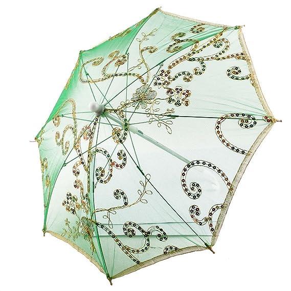 Amazon.com: eDealMax Fiesta de la boda Rendimiento Opera decoración de Encaje Brillante Regalo Festival paraguas: Home & Kitchen
