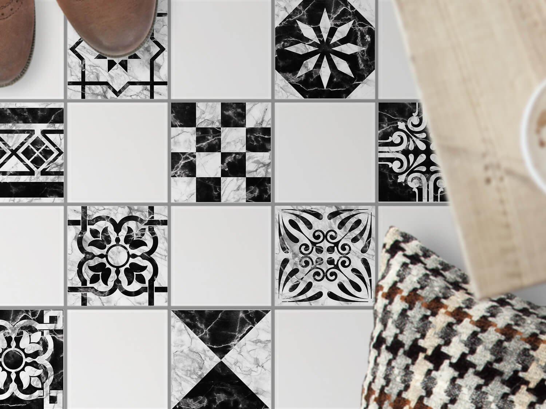 Fliesen Mosaik - Fliesen für Boden   Sticker Aufkleber Folie für ...