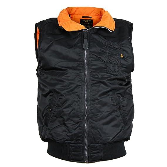 buy online e9fe3 0c579 Alpha Industries Weste MA 1 Vest Schwarz Größe M: Amazon.de ...