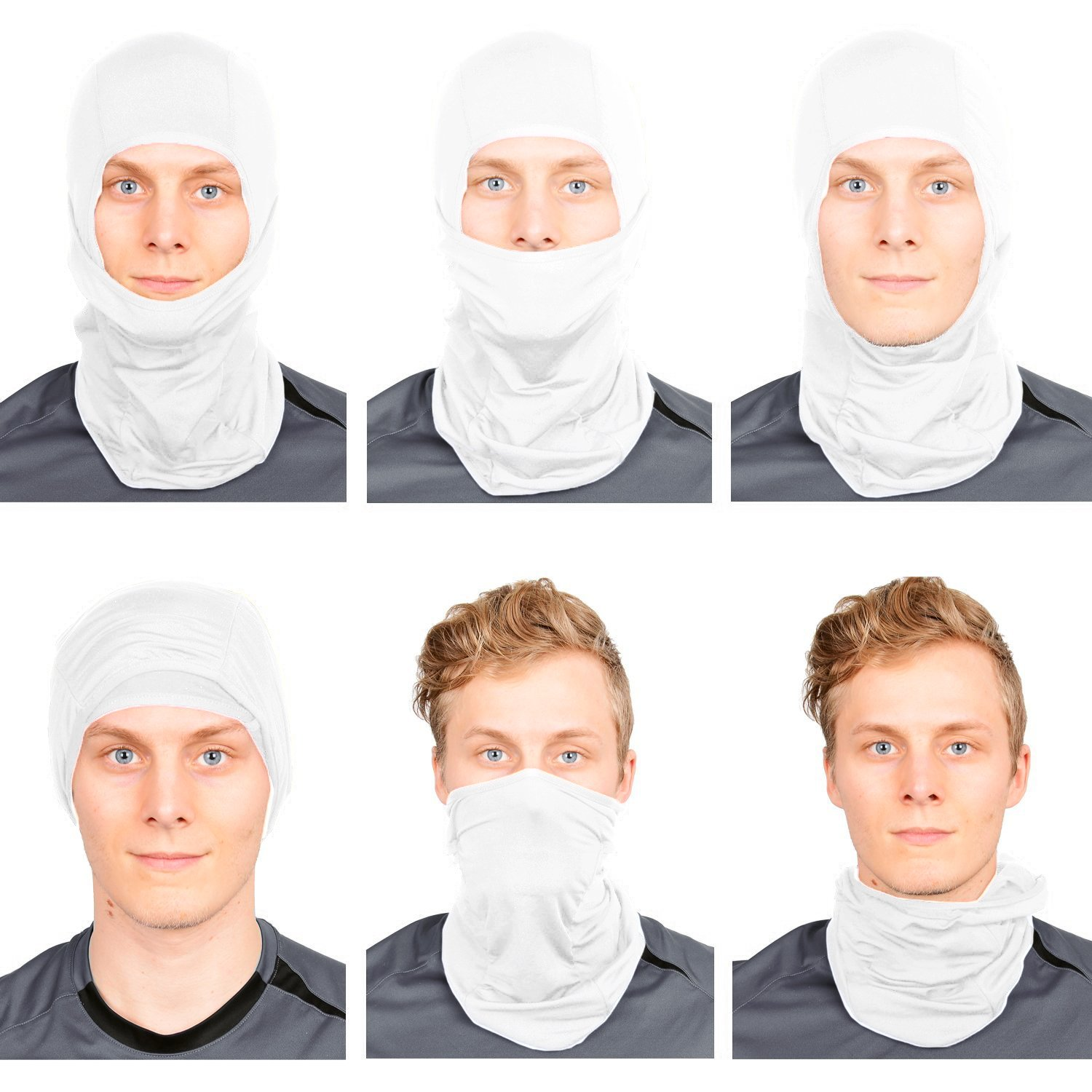 1-Pack or 2-Pack - Standard//Nordic//Arctic The Friendly Swede Balaclava Face Mask Neck Gaiter and Motorcycle Helmet Liner Ski and Winter Sports Headwear