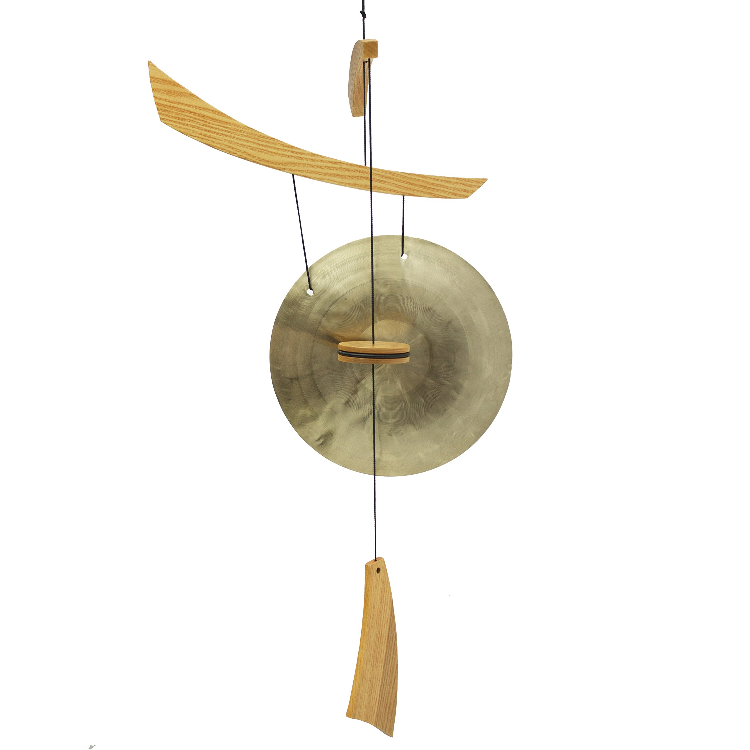 Woodstock Chimes EGC The Original Guaranteed Musically Tuned Chime Medium Emperor Gong, Natural by Woodstock Chimes