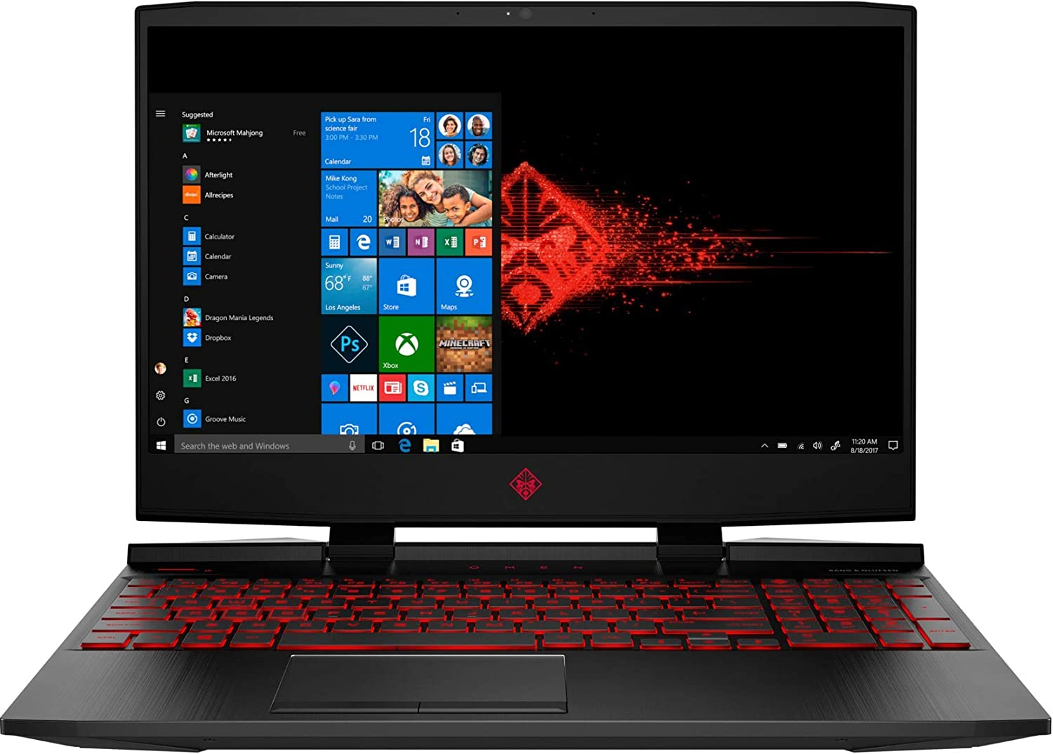 "2019 HP OMEN Gaming Laptop Computer, 9th Gen Intel Quad-Core i5-9300H up to 4.1GHz, 12GB DDR4 RAM, 1TB HDD + 128GB PCIe SSD, 15.6"" FHD, GeForce GTX 1650 4GB, Wi-Fi 6 AX 200, Bluetooth 5.0, Windows 10"