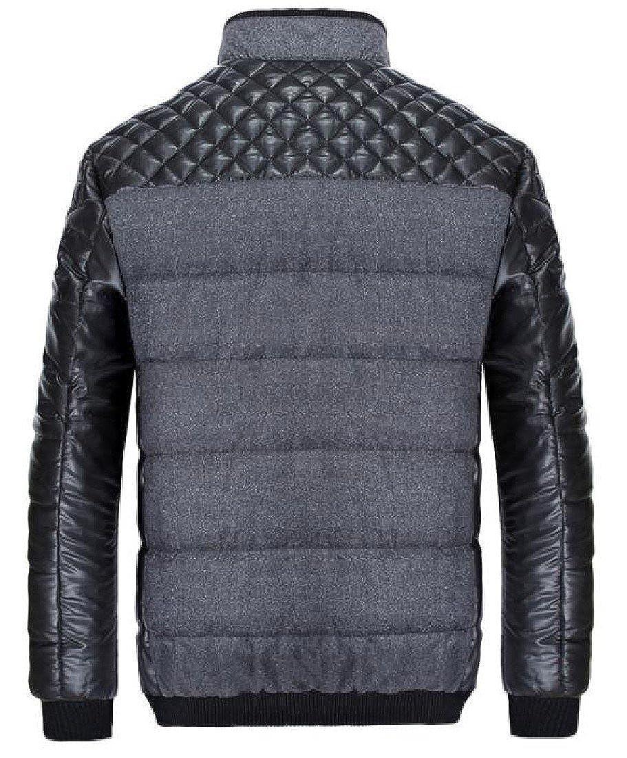 XiaoShop Mens Winter Waterproof Warm Zip-up Outwear Silm Fit Down Parka
