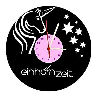 Reloj De Pared, Unicornio Diseño Tocadiscos Reloj con Esfera de ...