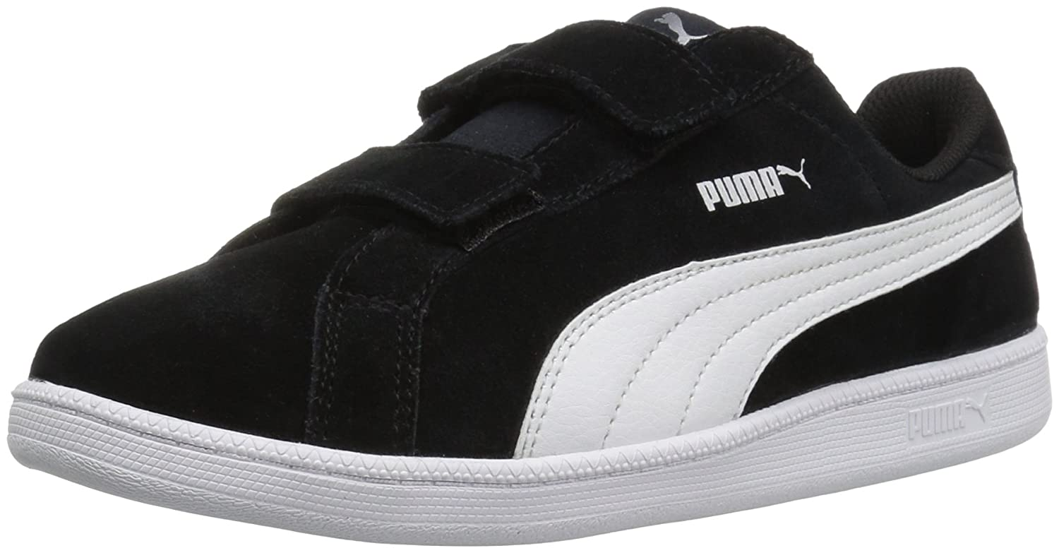 PUMA Smash Fun SD V Kids Sneaker B01BQU10Q0 2.5 M US Little Kid|Puma Black/Puma White