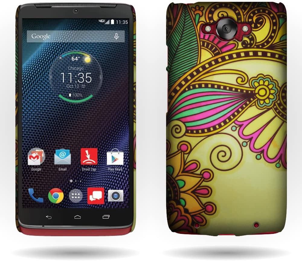 Motorola Droid Turbo Case, by CoverON Antique Flower Design Shell Cover Hard Case for Motorola Droid Turbo XT1254