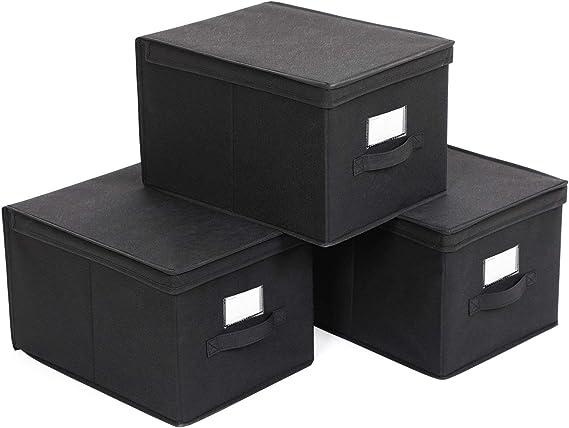 SONGMICS Set de 3 Cajas de Almacenaje Cubos de Tela Organizador ...