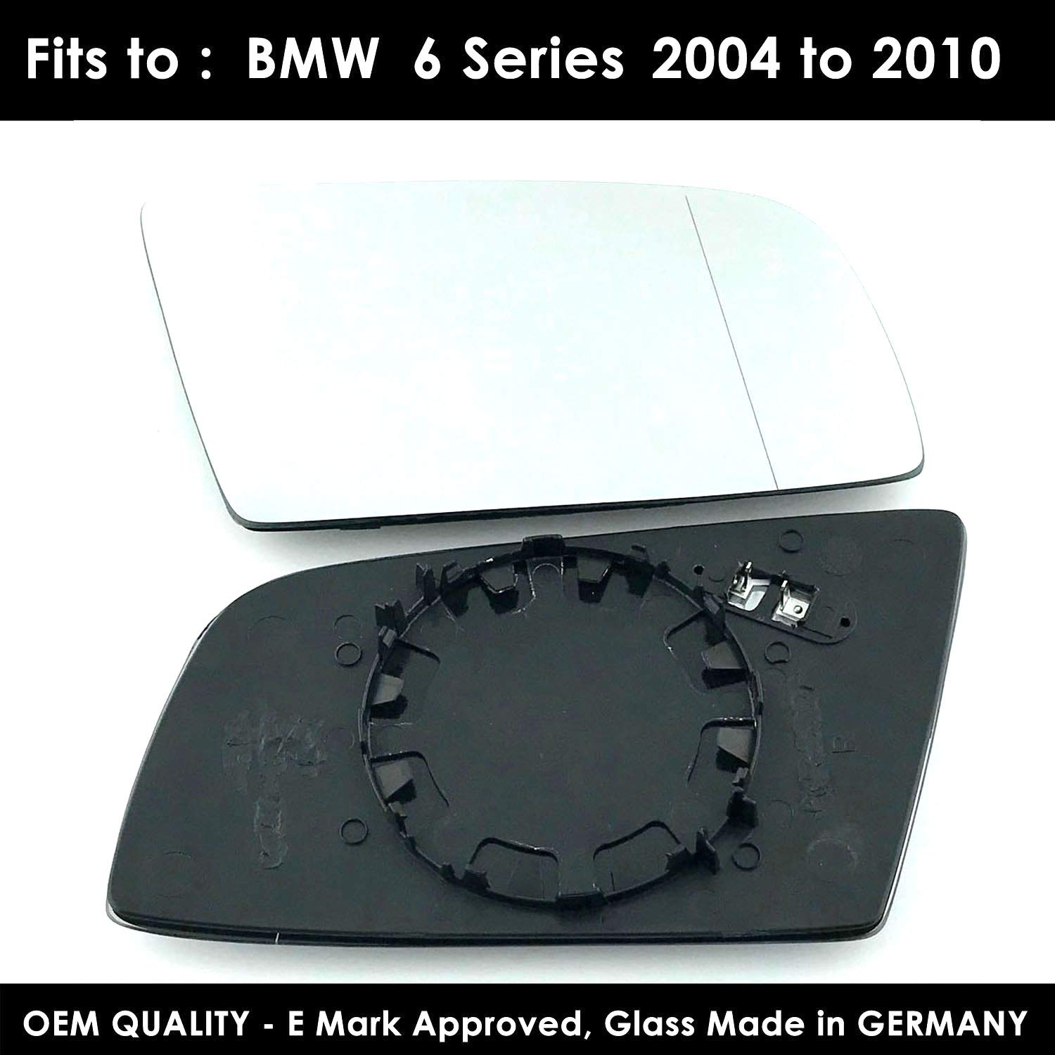 Driver Side TWMC-6S 2004 to 2010 Heated Door Wing Mirror Glass Including Base Plate RH