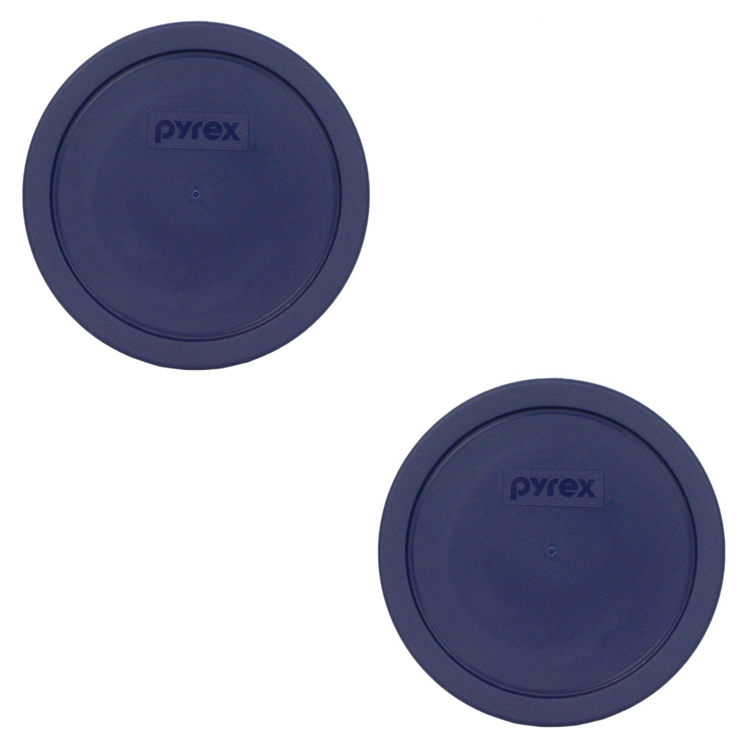 Pyrex Blue 3 Cup Round Storage Cover #7401-PC for Glass Bowls 2-Pack
