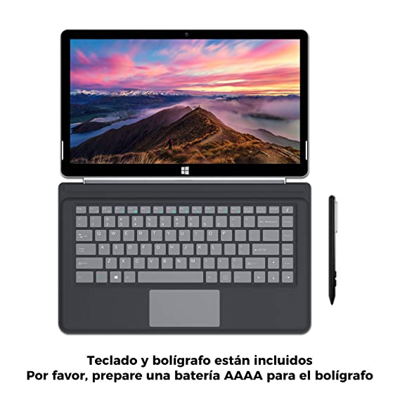 "XIDU PhilPad - Ordenador Portátil de 13.3"", Tablet PC 2 en 1, Pantalla Táctil FullHD (Intel E3950, 6GB RAM, 128GB eMMC, Windows 10 Home) Tipo C, ..."
