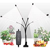 Grow Light for Indoor Plants, Upgraded 4 Heads 168 LEDs Full Spectrum Sunlike White Plant Lights with 4/8/12H Timer, 5…