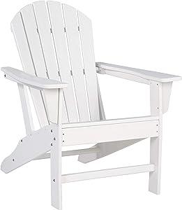 Ashley Furniture Signature Design - Sundown Treasure Outdoor Adirondack Chair - Hard Plastic - White
