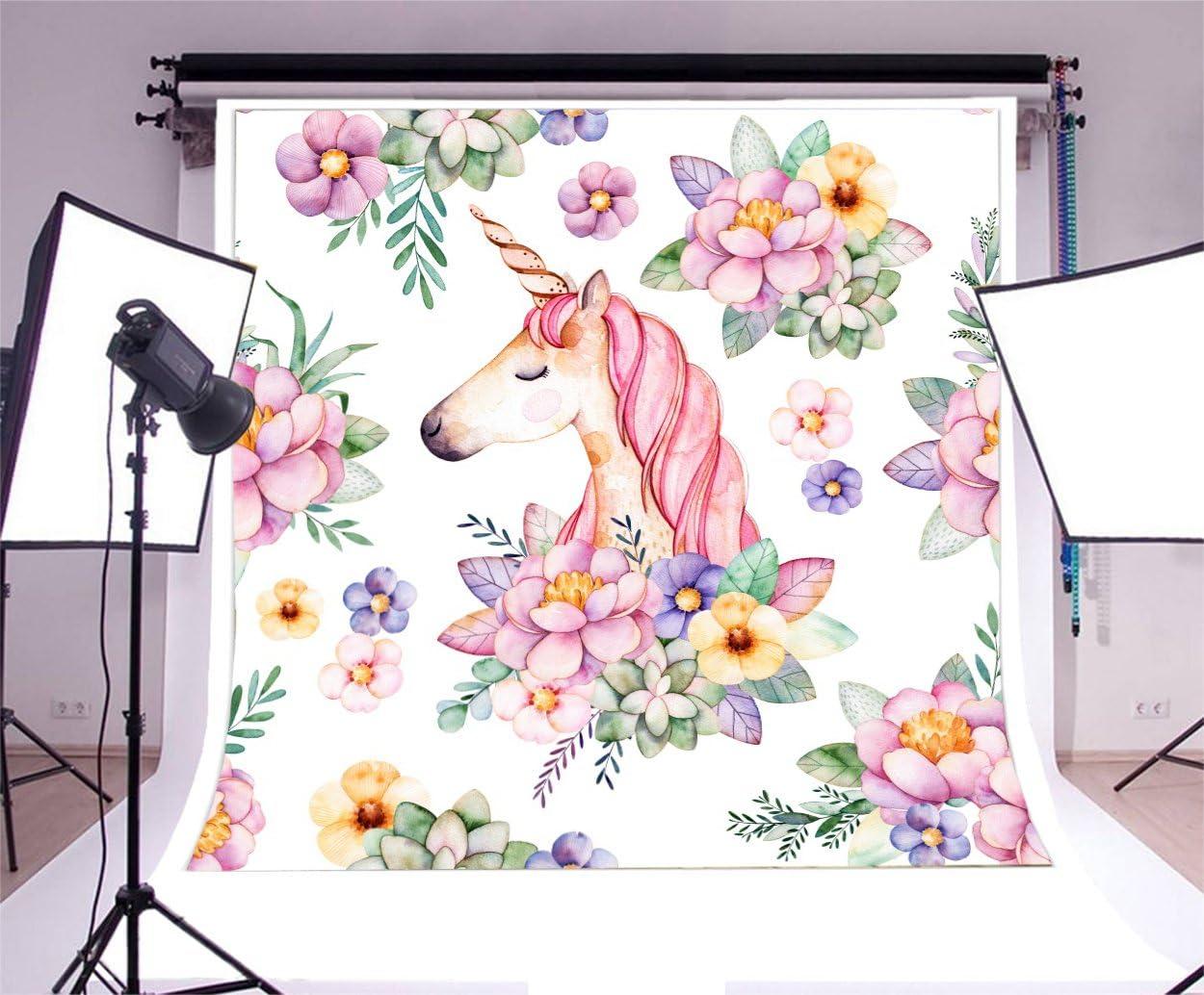 Unicorn Party Backdrops 5×5 Ft