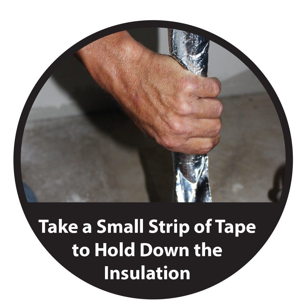MWS Pipe Wrap Faucet Sealer Insulation Kit Foam Core Weatherization 6'' x 25' Tape