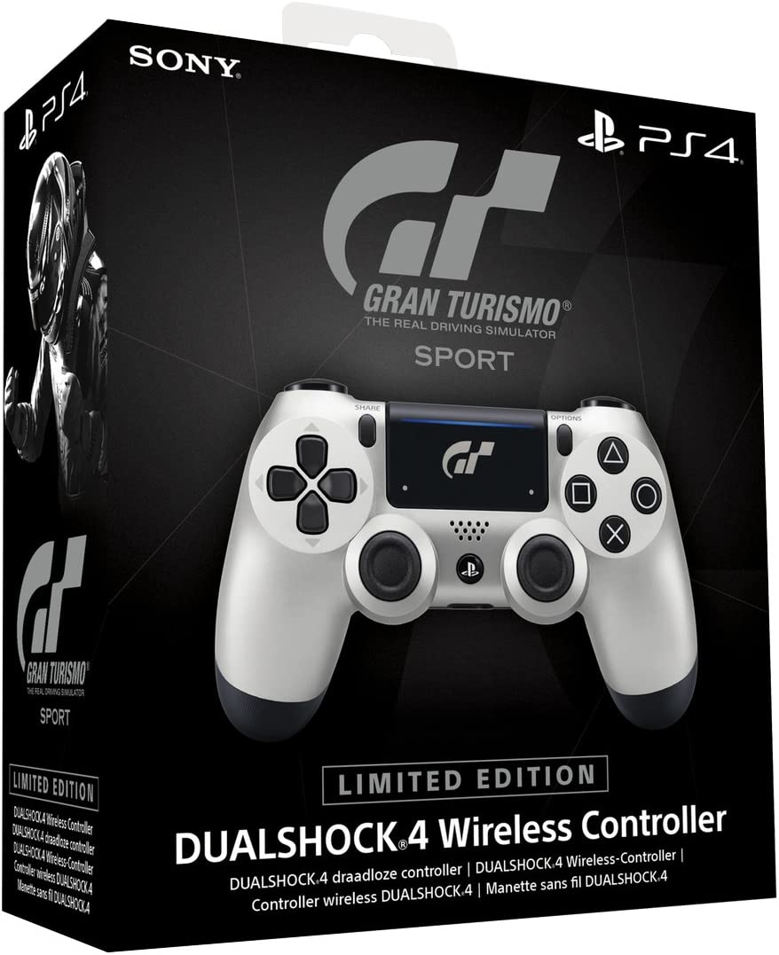 1a982e1d4e6 Amazon.com  DualShock 4 Wireless Controller for PlayStation 4 - Silver GT  Sport  Sony PlayStation 4  Video Games