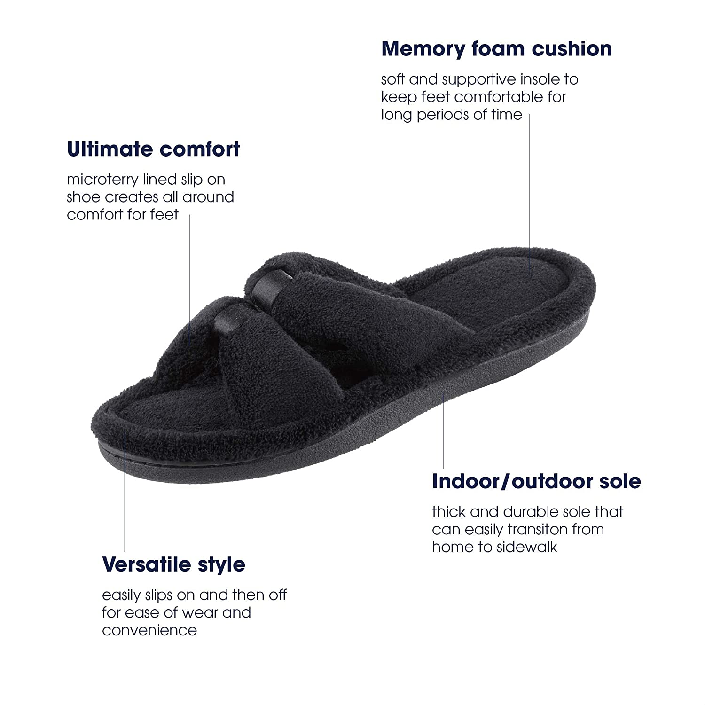 Amazon.com: Isotoner Signature X-Slide - Pantuflas para ...