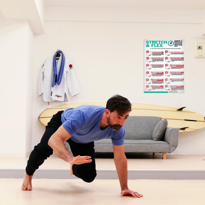 Amazon.com: Stretch and Flex - Póster de 10 minutos de ...