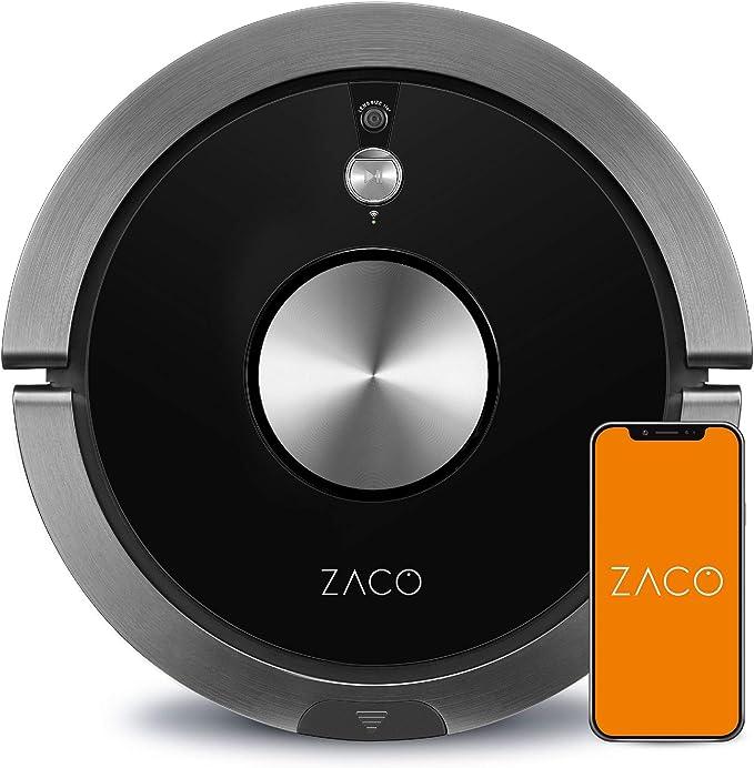 ZACO A9s - Robot 3 en 1 de aspiración y fregado, navegación inteligente PanoView, sistema de notificaciones por voz y servicio de voz Alexa, negro carbón: Amazon.es: Hogar