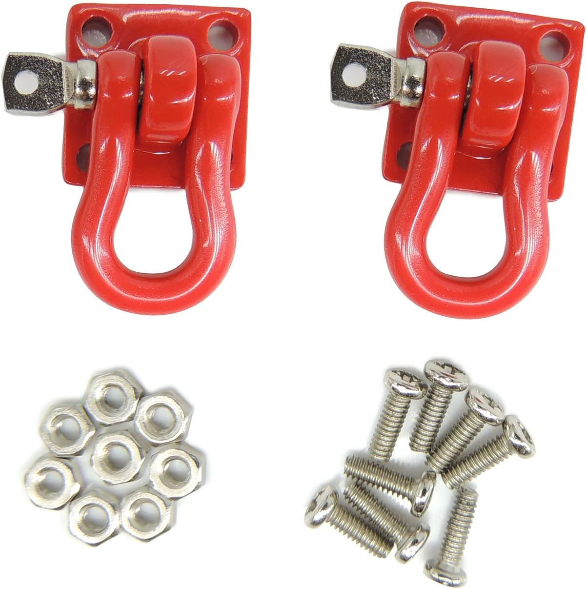 Pair of Tow Chain w// Trailer Hook for 1:10 Axial SCX10 RC4WD D90 RC Crawler