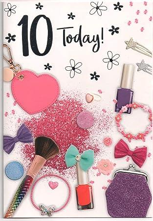 Tarjeta de cumpleaños para 10 (10) años de edad, poste ...