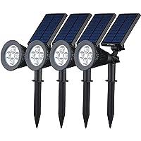 [200 lúmenes & 4Packs] Luz Solar/foco LED Impermeable