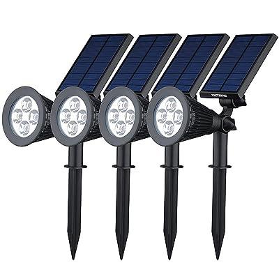 [200 lúmenes & 4Packs] Luz Solar / foco LED Impermeable de VicTsing, Luz de Paisaje al Aire Libre Proporcionar hasta 10 HORAS de iluminación Para Calzada, Patio, Cesped, Pathway, Jardín.