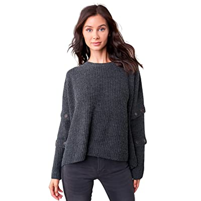 Sugar Lips Women's Button Sleeve Knit Sweater at Women's Clothing store