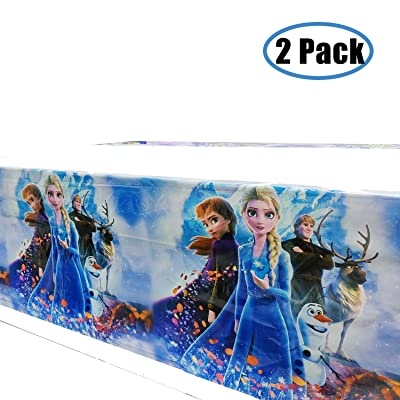 kingparty Frozen Princess Tablecover Party Supplies Decorations - Baby Shower Birthday Tablecloth Décor Covers Plastic (2 Pcs): Kitchen & Dining