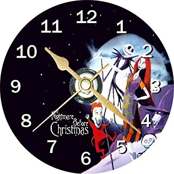 Nightmare Before Christmas Novelty Cd Clock + Free Desktop Stand ...