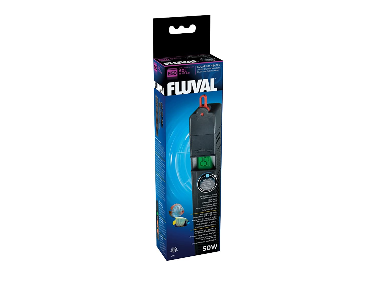 Amazon.com : Fluval E 50-Watt Electronic Heater : Aquarium Heaters : Pet Supplies