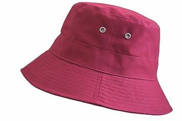 5217fc88928563 Amazon.com : Maroon Bucket Hat Cap Boonie Cotton Fishing Hunting Safari Sun  Men Women Brim : Baby