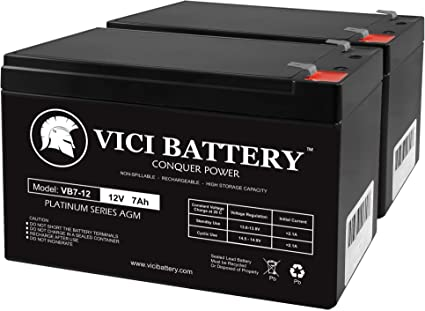 VICI Battery 12V 7AH 2 Pack SLA Battery for Electric Trolling Motor Brand Product